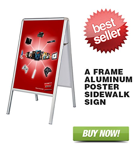 Signworld Double Side A-Frame Aluminum Poster Sidewalk Sign