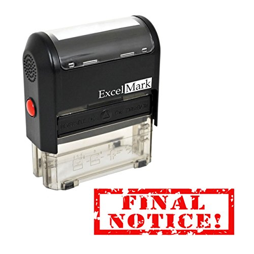 FINAL NOTICE - Self Inking Bill Collection Stamp in Red Ink
