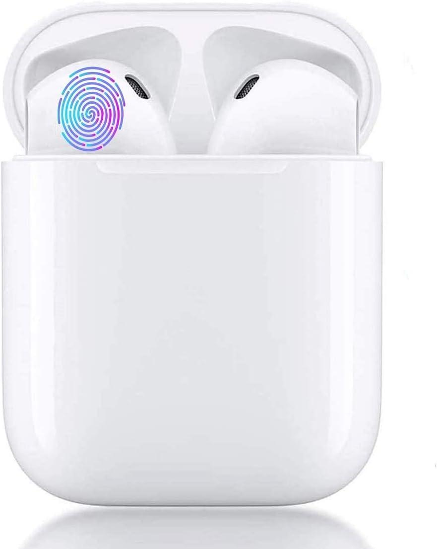 Auriculares Bluetooth 5.0 Auriculares Inalambricos Cascos Bluetooth Headphone Deportivos Estéreo con Mic y Cancelación de Ruido Auriculares Estéreo Compatibles con Smartphones