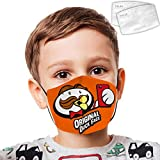 Ko-dak Black3 Face Coverfor Kids Teens Upgrade Dust Washable Reusable Adjustable Earring Double Layer