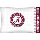 NCAA Alabama Crimson Tide White Locker Room Jersey Pillow Case