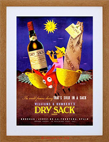 The Art Stop Vintage Advert Wine Alcohol Dry Sack Sherry Framed Print F12X7514