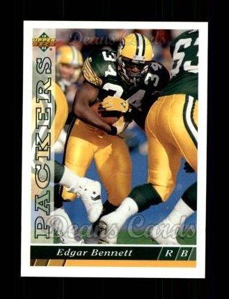 1993 Upper Deck # 289 Edgar Bennett Green Bay Packers (Football Card) Dean's Cards 8 - NM/MT Packers