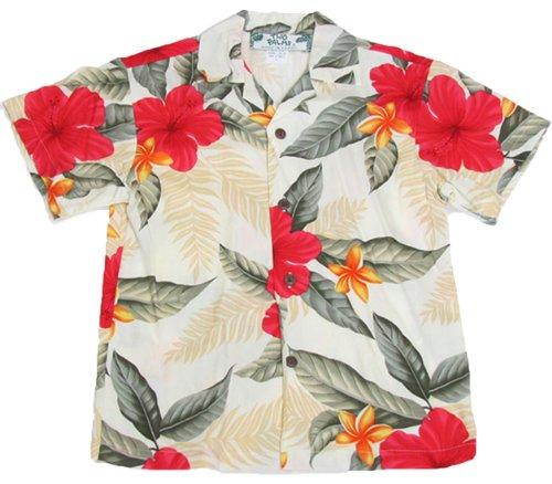 Two Palms Boys Leilani Rayon Shirt Cream 12 by Two Palms
