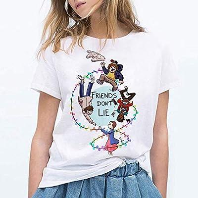 SHINEE Camisetas De La Novedad De Las Mujeres Stranger Things, Camisetas con Cuello Redondo Y Manga Corta Impresas En 3D,C,S: Amazon.es: Deportes y aire libre