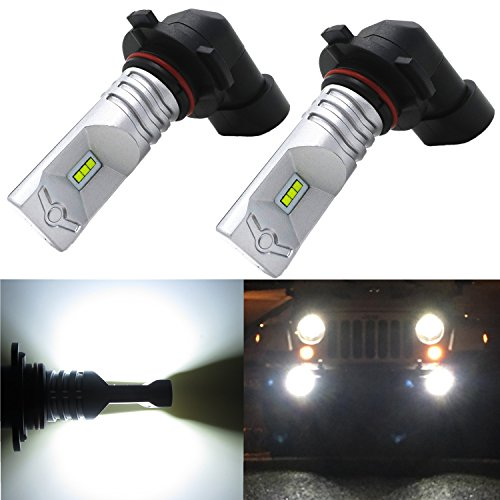 Alla Lighting High Power CSP SMD H10 9145 Extremely Super Bright 6000K Xenon White LED Lights Bulbs Best for Replacing Fog Light Lamps (Ford Lighting Fog Lights compare prices)