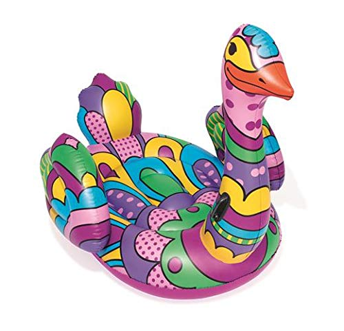 Swan Pool Lake Inflatable Summer Party Ride-On Float with Heavy-Duty Handles Bestway 41123E H2OGO