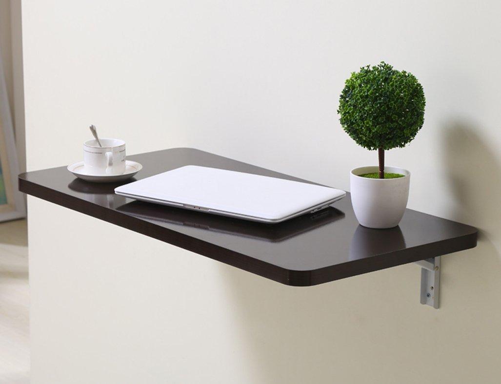 LXF 折りたたみテーブル 折り畳み式テーブルダイニングテーブル壁掛けコンピュータデスクノートブックラーニングテーブル (色 : ブラッククルミ色, サイズ さいず : 100*40CM) B07BTQFPGY 100*40CM|ブラッククルミ色 ブラッククルミ色 100*40CM
