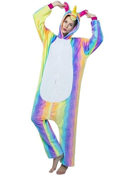 82613a8f0ba9 Adult Onesies for Women Men Teens Unicorn Pajamas Animal Costume One Piece  Onsie