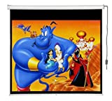 Maxstar Screens Premier 80''x80'' Electric / Motorized Projector Screen with Remote Control