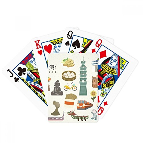 beatChong Taiwan Features Travel Attractions Poker Playing Card Tabletop Board Game Gift by beatChong