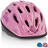 KIDS Bike Helmet [ Pink Octopus ] – Adjustable from Toddler to Youth Size, Ages 3-7 - Durable Kid Bicycle Helmets with Fun Aquatic Design Girls will LOVE - CSPC Certified - FunWave