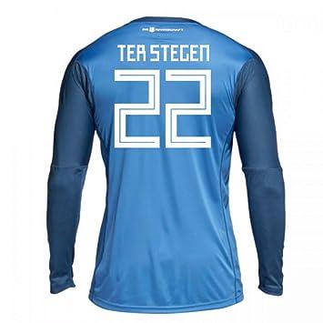 9bc048970 2018-19 Germany Home Goalkeeper Football Soccer T-Shirt (Marc Andre Ter  Stegen 22) - Kids  Amazon.co.uk  Sports   Outdoors