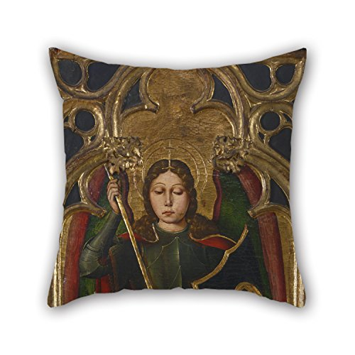 [PaPaver Oil Painting Juan XimÃnez, Spanish (active Aragon), First Documented 1500, Died 1505 - The Archangel Michael Cushion Cases 16 X 16 Inches / 40 By 40 Cm Gift Or Decor For Bedding Pub Son] (Aragon Costume)