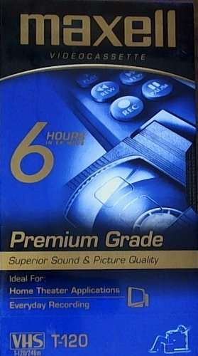 New Maxell Premium High Grade Videocassettes 120 Minutes 3 Pack Recording Time Outstanding Picture by Maxell