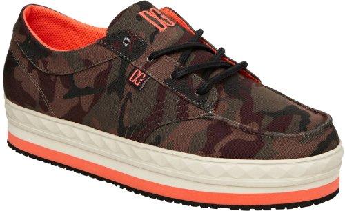 DC Shoes Sneaker Plateau Turnschuh Damen Freizeitschuh (36 EU, Grün)