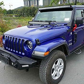 ALAVENTE LED Light Bar Windshield Hood Mount Bracket Kit for Jeep Wrangler JL 2018-2019 Not for 2018 JK