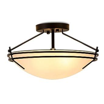 Vendimia Lámpara de techo, E27 Enchufe Vaso Tonos Lámpara de ...