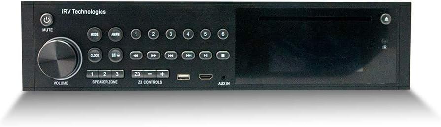 iRV Technology iRV35 Am/FM/DVD/MP3/MP4/USB/HDMI/Arc Threater-Style Bluetooth Wallmount 3 Zone Independent Stereo Radio W/App Control