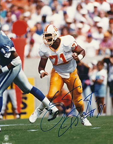 (Autographed Signed Santana Dotson 8x10 Tampa Bay Buccaneers Photo - Certified Authentic)