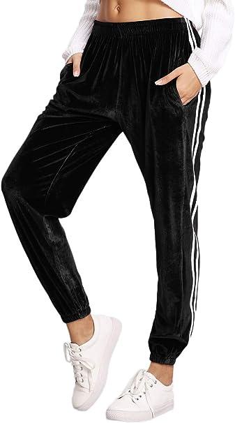 Amazon.com: SweatyRocks - Pantalones de chándal para mujer ...