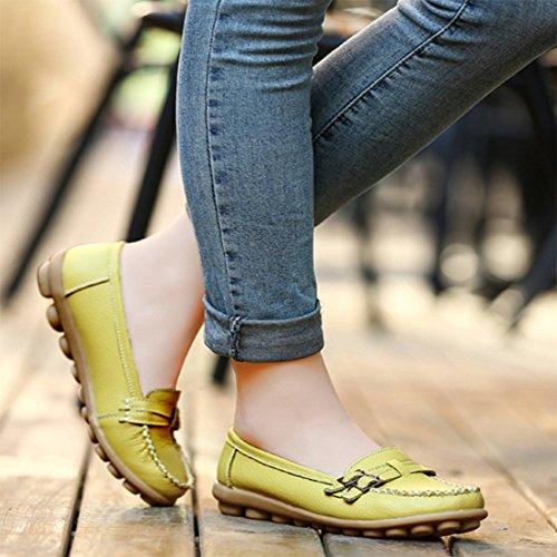 De Enfermera De Zapatos Embarazada Zapatos De De Zapatos Tamaño CITW De Mujer Zapatos Zapatos De De Ocasionales De Zapatos Yellow Zapatos De Mujer Mujer Guisantes Mujer Madre Planos Otoño Gran S4f0Bn