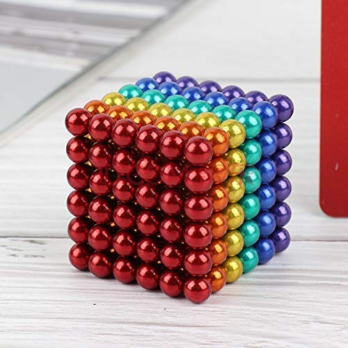 Office Toy /& Stress Relief for Adults 5MM 216 Pieces Magnets Sculpture Building Blocks Toys for Intelligence Learning -7 6 Color