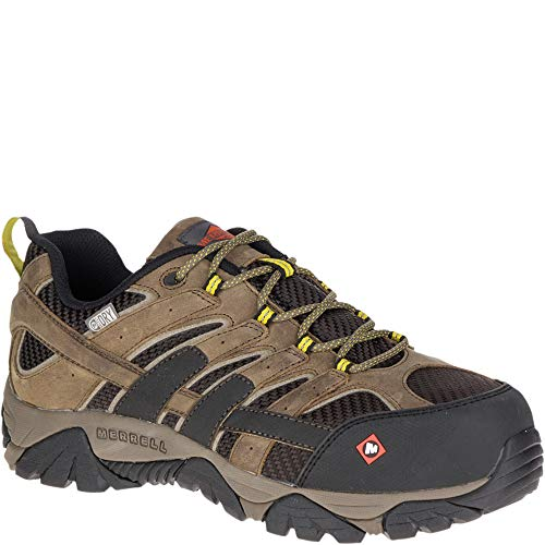 - Merrell Men's, Moab 2 Vent Low Waterproof Composite Toe Work Shoes Boulder 13 M