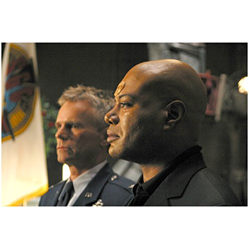 Stargate Christopher Judge as Teal'c with Richard Dean Anderson as Col. O'Neill in background 8 x 10 Inch photo