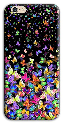 Mixroom - Cover Custodia Case In TPU Silicone Morbida Per Apple Iphone 6 6s M575 Farfalle Multicolore