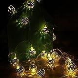Globe String Light, CORST® 16.4FT/5M 40 LED Globe Fairy Light String Battery Powered Moroccan Ball Lantern for Christmas, Garden, Home(Warm White)