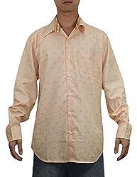 Tommy Bahama Mens Summer / Light Weight Island Shirt M Light Orange