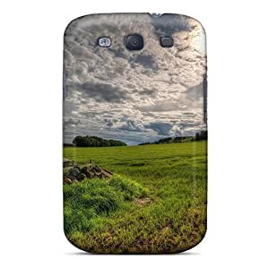 High Quality Shock Absorbing Case For Galaxy S3-wonderful Meadow Lscape Hdr