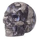 """Mineralbiz 1.3"""" - 1.5"""" Natural Llanite Carved Crystal Skull Healing Reiki Human Skull Head"""