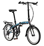 Schwinn Adapt 2 Folding Bike, 20-Inch Wheels, 8-Speed, Bike Matte Charcoal