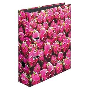 Herlitz 11080678 - Archivador con anillas (8 cm, A4), diseño de pitayas