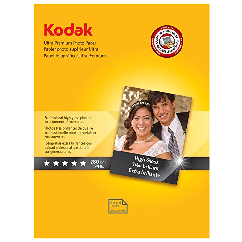 Kodak Ultra Premium Photo Paper for inkjet printers, Glos...