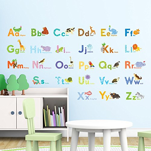 Decowall DAT 1608 Watercolour Alphabet Stickers product image