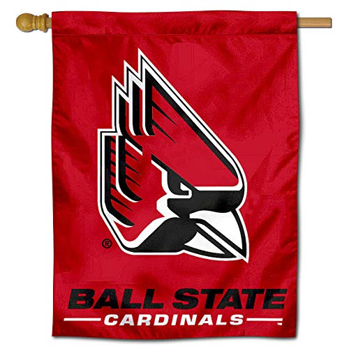 (Ball State Cardinals New Logo House Flag Banner)