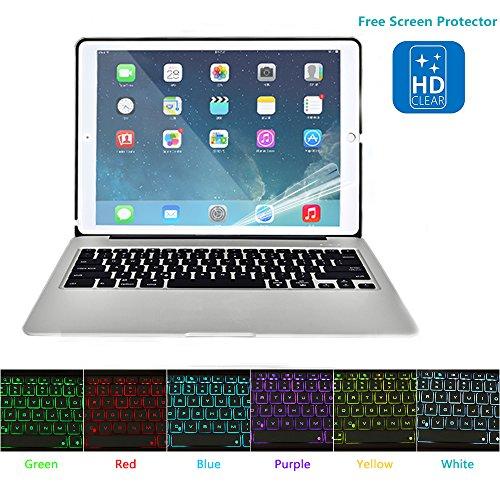 Hiotech Ipad Mini 4 Bluetooth Keyboard Case Aluminum Alloy Keypad Cover For Ipad Mini 4 With 7 Led Backlit Keys   2800Mah Capacity Power Bank  Silver