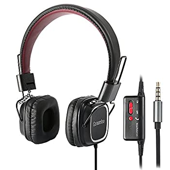 Active Noise Cancelling Headphones w/ Mic and Airplane Adapter, Conambo Foldable Headsets Strong Bass, Super Lightweight Ultra Comfort-Black