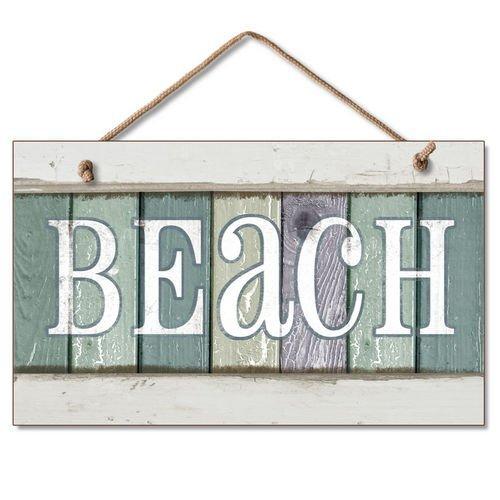 Weathered Beach Coastal Plaque Decor