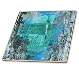 3dRose Andrea Haase Art Illustration - Abstract Painting With Quote Close The Door That No Longer Leads - 6 Inch Glass Tile (ct_268437_6)