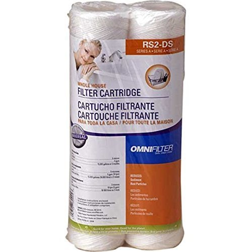Price comparison product image OmniFilter Model RS2-DS 2 Pack String Wound Filters Whole House Water Filter Cartridges