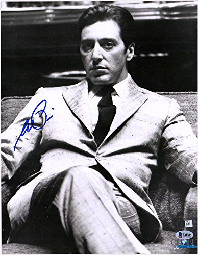 """Al Pacino The Godfather Autographed 11"""" x 14"""" Sitting Photograph - BAS from Hollywood Memorabilia"""