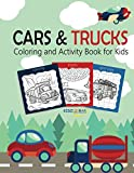 img - for Cars and Trucks Coloring and Activity Book for Kids: Coloring, Mazes, Dot to Dot connect ,Draw using the grid, Tracing ,Word Search Puzzle (Activity Book for Kids Ages 4-8, 5-12) book / textbook / text book