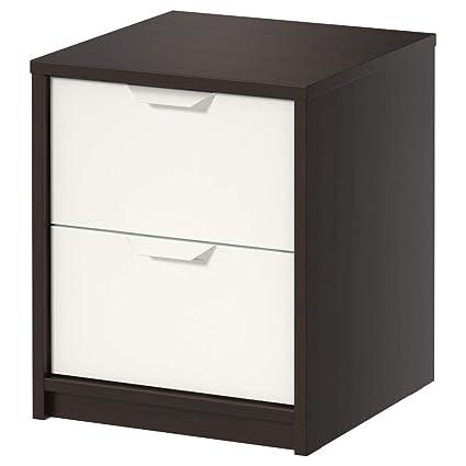 IKEA ASIA ASKVOLL - Cajonera (2 cajones), Color Negro y ...