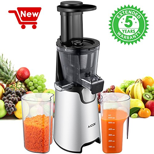 Juicer Slow Masticating Juicer Extractor, 3 Strainers For Frozen Desserts,  High Nutrient Fruit And