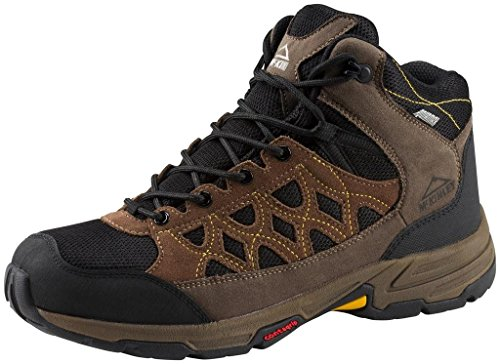 Mckinley Scarpe Da Trekking Cisco Hiker Mid Aqx Uomo Marrone Nero / Giallo