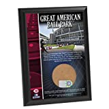 MLB Cincinnati Reds Great American Ballpark 4x6-Inch Game Used Dirt Plaque Photomint